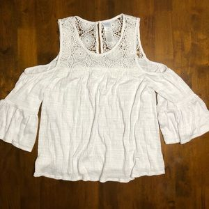 Time and Tru Cold Shoulder Blouse